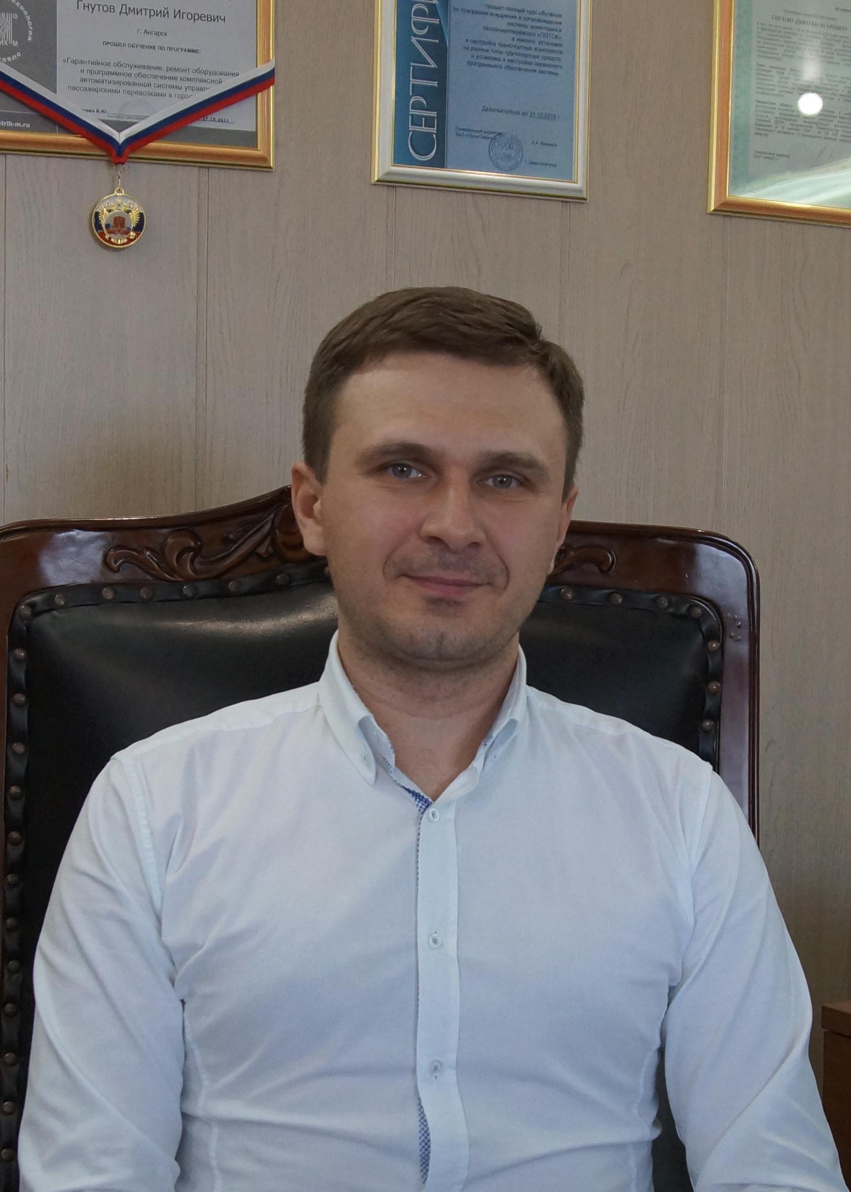 Заместитель генерального директора: Гнутов Дмитрий Игоревич